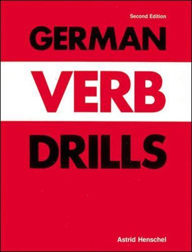 9780844220499: German Verb Drills (Language - German)