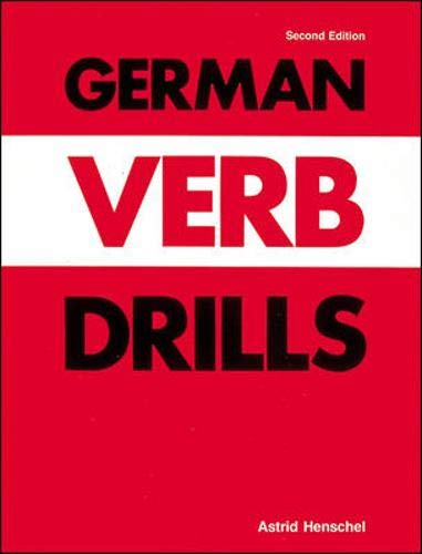 9780844220499: German Verb Drills (Language Verb Drills)