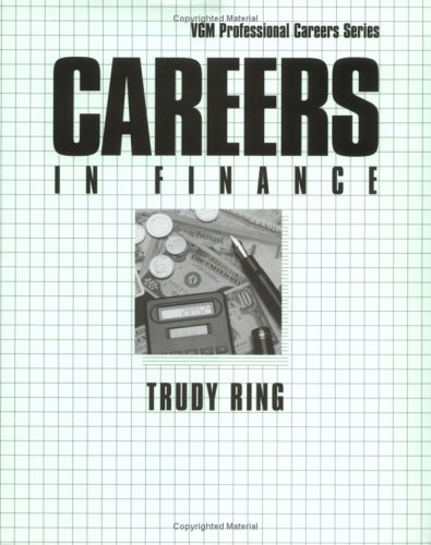 9780844220697: Careers in Finance (Vgm Professional Careers Series)