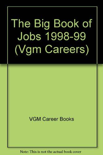 9780844220727: The Big Book of Jobs: 1998-1999 Edition