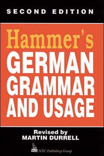 9780844222066: Hammer's German Grammar and Usage