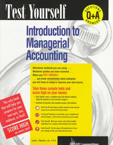 9780844223704: Introduction to Managerial Accounting (Test Yourself Series)