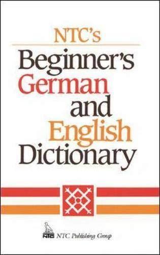 9780844224978: Ntc's Beginner's German and English Dictionary (Language - German)