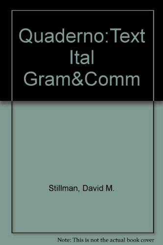 9780844226934: Quaderno: A Workbook for Italian Grammar And Communication