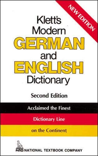 Klett's Modern German and English Dictionary: National Textbook Company Staff
