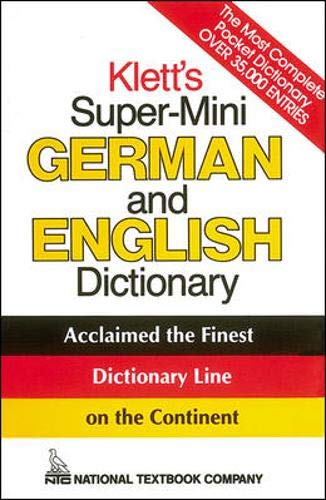 Klett's Super-Mini German and English Dictionary (Klett's): Erich Weiss