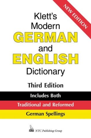 9780844228747: Klett's Modern German and English Dictionary