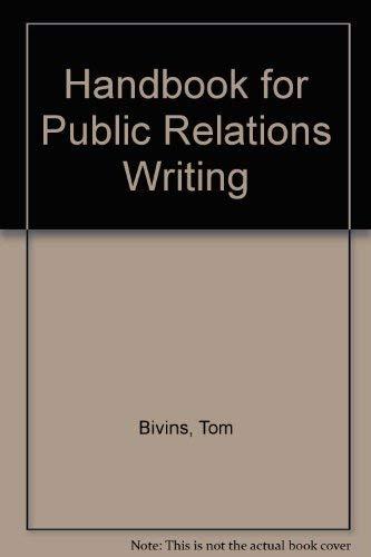 9780844231525: Handbook for Public Relations Writing