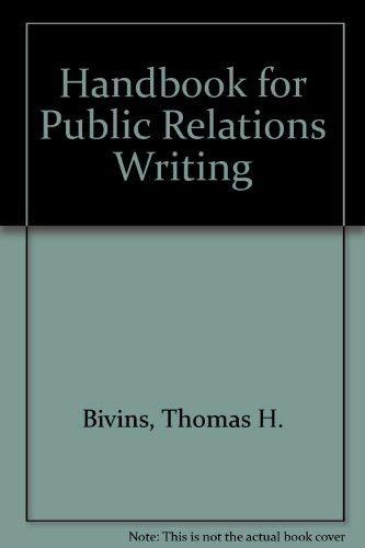 9780844231532: Handbook for Public Relations Writing