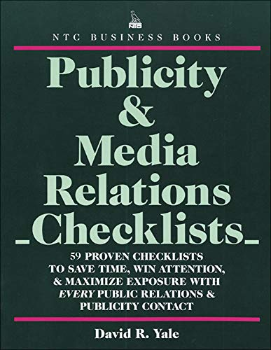 9780844232188: Publicity & Media Relations Checklists