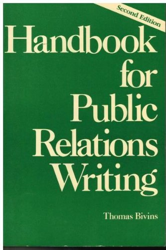 9780844232645: Handbook for Public Relations Writing