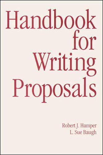 9780844232737: Handbook for Writing Proposals