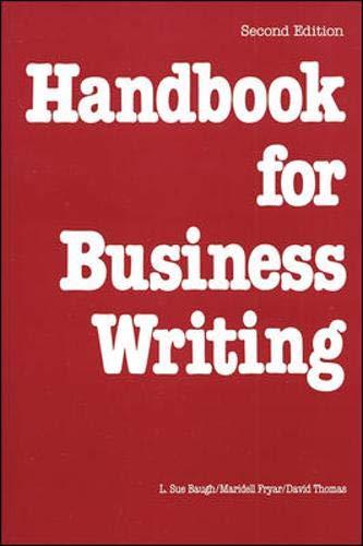 9780844232782: Handbook For Business Writing
