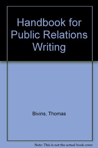 9780844234359: Handbook for Public Relations Writing
