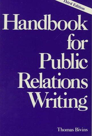 9780844234366: Handbook for Public Relations Writing