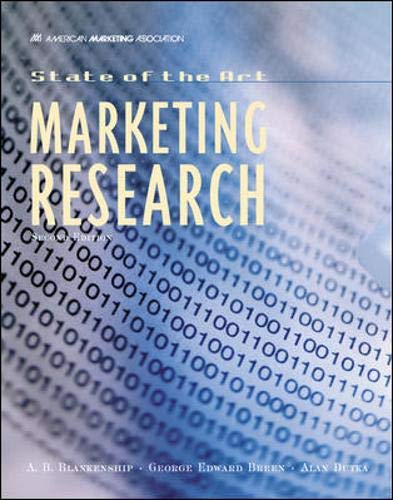9780844234434: State of The Art Marketing Research
