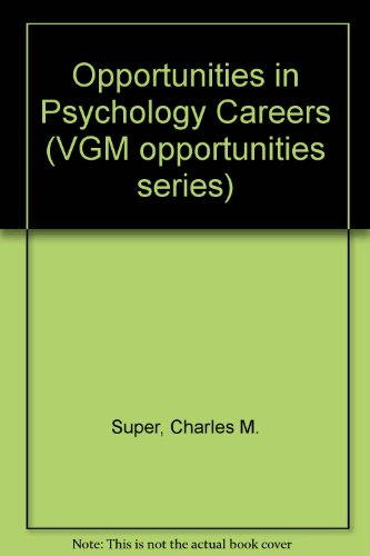 9780844240725: Opportunities in Psychology Careers (VGM opportunities series)