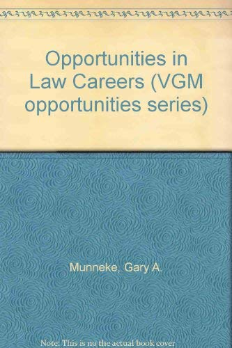 9780844240862: Opportunities in Law Careers (Vgm Opportunities)