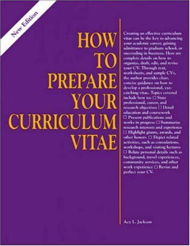 9780844241302: How to Prepare Your Curriculum Vitae (Vgm How to Series)