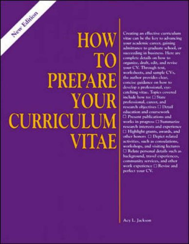 9780844241302: Prepare Your Curriculum Vitae (Here's How)