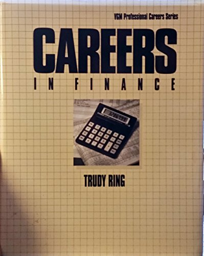 9780844241869: Careers in Finance (VGM Professional Careers Series)
