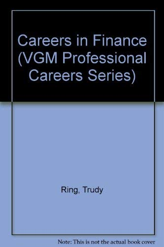 9780844241869: Careers in Finance (Vgm Professional Careers