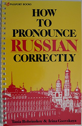 9780844242859: How to Pronounce Russian Correctly (NTC Russian series)