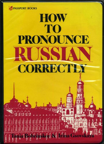 9780844242873: How to Pronounce Russian Correctly (Book and Cassette) (English and Russian Edition)