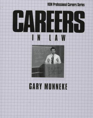 9780844245096: Careers in Law (Vgm Professional Careers Series)