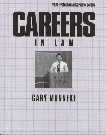 9780844245102: Careers in Law (Vgm Professional Careers Series)