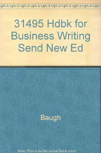 9780844253206: 31495 Hdbk for Business Writing Send New Ed