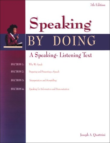 9780844257617: Speaking by Doing Student Edition