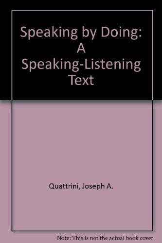 9780844257624: Speaking by Doing: A Speaking-Listening Text