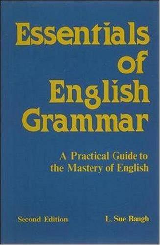 9780844258201: Essentials of English Grammar