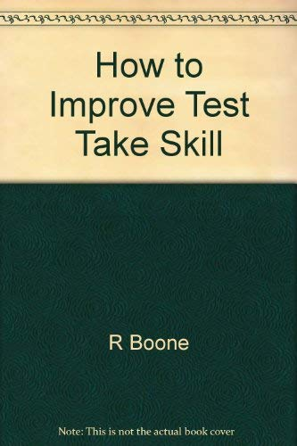 9780844258980: How to Improve Your Test-taking Skills