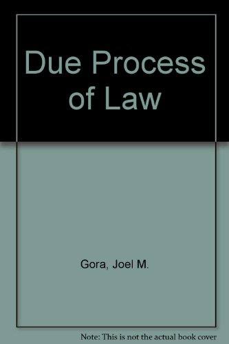 9780844260037: Due Process of Law