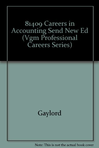 9780844261201: 81409 Careers in Accounting Send New Ed (Vgm Professional Careers Series)