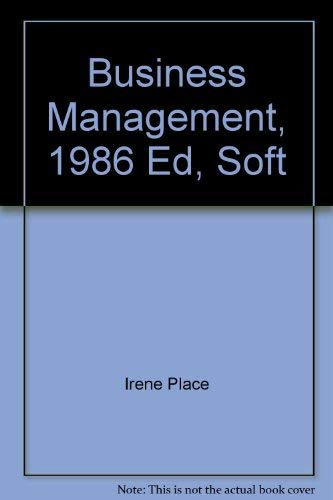 9780844261867: Business Management, 1986 Ed, Soft