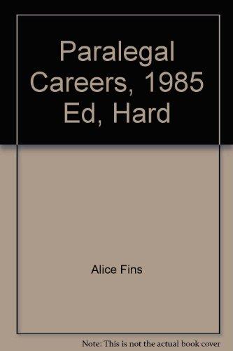 9780844262185: Paralegal Careers, 1985 Ed, Hard