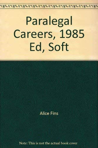 Opportunities in Paralegal Careers: Alice Fins