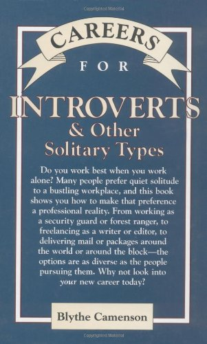 9780844263854: Careers for Introverts & Other Solitary Types (Vgm Careers for You Series)