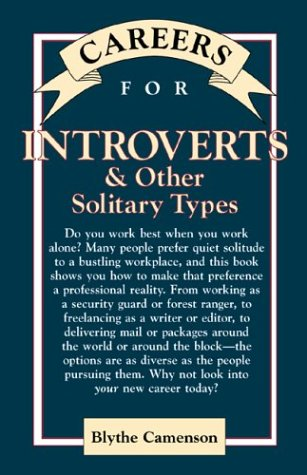 9780844263861: Careers for Introverts & Other Solitary Types