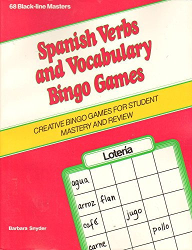 9780844271989: Spanish Verbs and Vocabulary Bingo Games (1st Through 2nd)