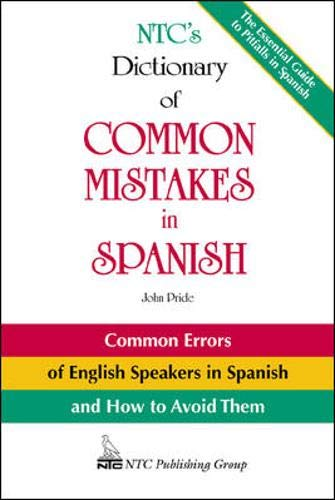 9780844272528: NTC's Dictionary of Common Mistakes in Spanish