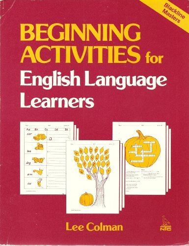9780844274041: Beginning Activities for English Language Learners (Blackline Masters)