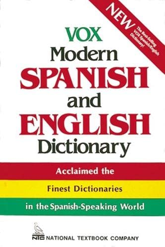 9780844279886: Vox Modern Spanish and English Dictionary (Vinyl cover) (VOX Dictionary Series)