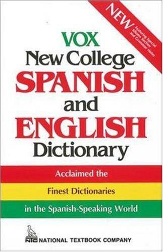 9780844279985: Vox New College Spanish and English Dictionary