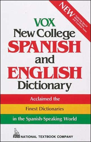 9780844279992: Vox New College Spanish and English Dictionary