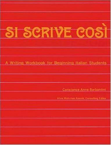 9780844280356: Si Scrive Cosi: A Writing Workbook for Beginning Italian Students (NTC: FOREIGN LANGUAGE MISC)