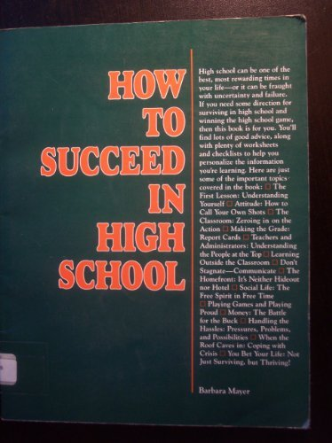 9780844281216: How to Succeed in High School (Selfhelp)